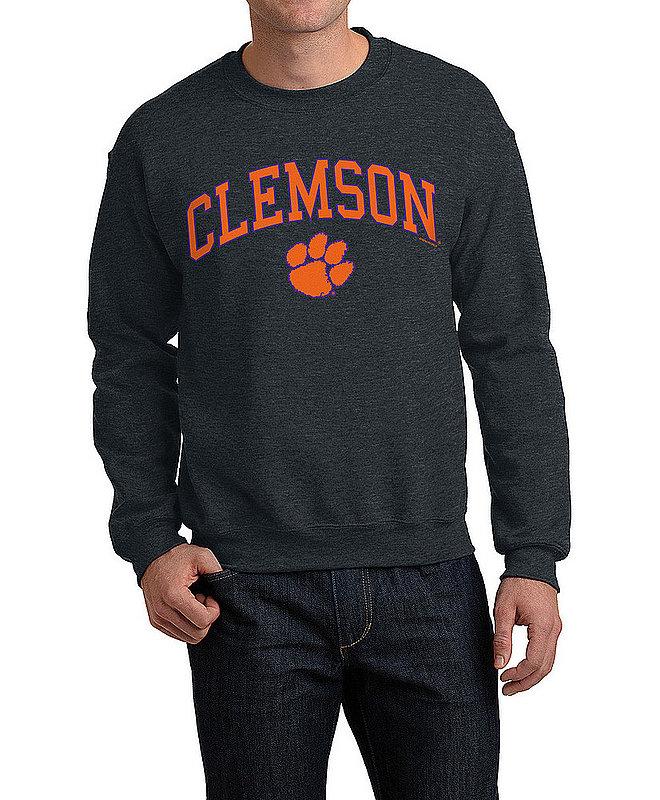 Clemson Tigers Crewneck Sweatshirt Varsity Charcoal APC02960969*