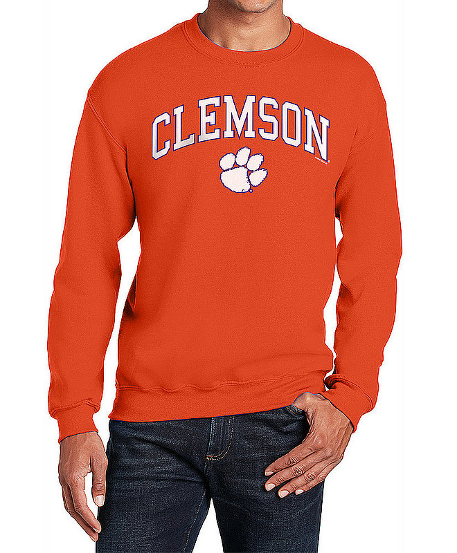 Clemson Tigers Crewneck Sweatshirt Varsity Orange APC02960969*