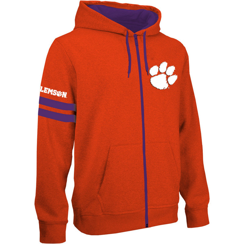 Clemson Tigers Full Zip Hooded Sweatshirt Captain Orange CLM29680