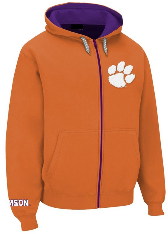 Clemson Tigers Full Zip Hoodie Orange CLM29452