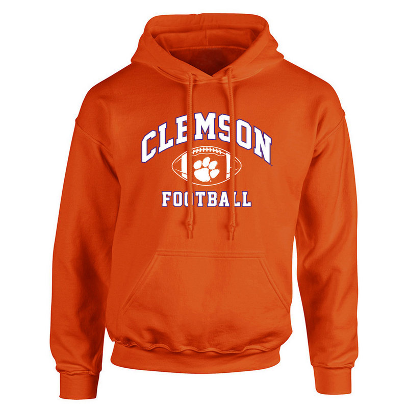 Clemson Tigers Hooded Sweatshirt Power Orange P0005029