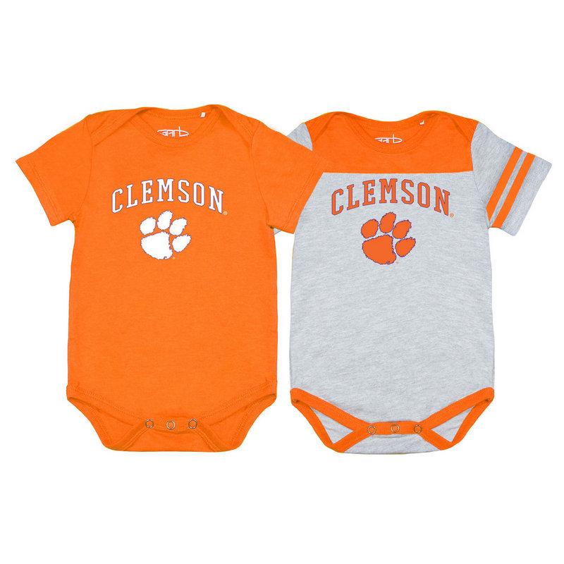 Clemson Tigers Infant Baby Onesie 2 Pack TOMMY-I-ORA-CLEMSON