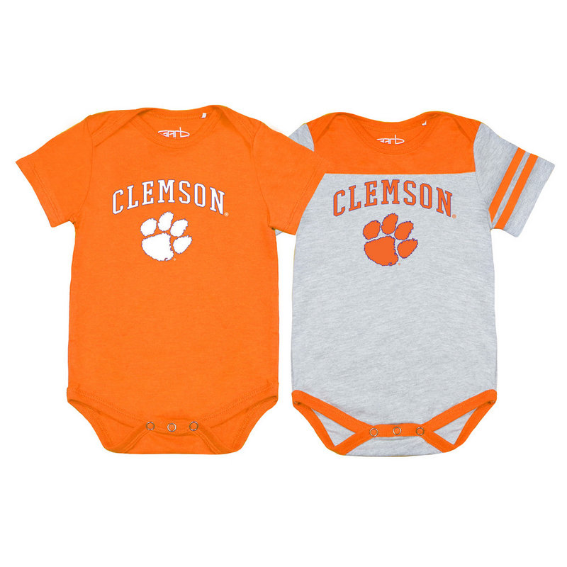 Clemson Tigers Infant Onesie 2 Pack TOMMY-I-ORA-CLEMSON