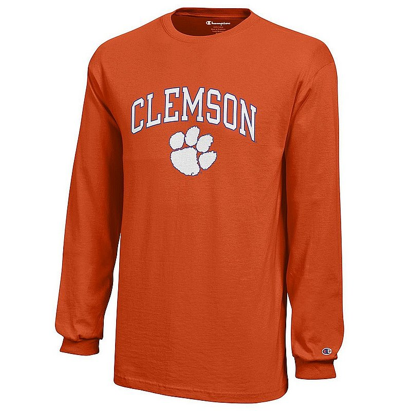 Clemson Tigers Kids Long Sleeve TShirt Arch Orange APC03008292