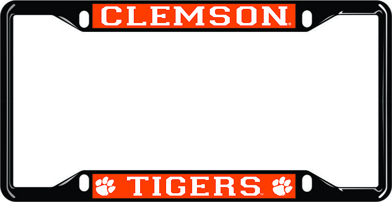 Clemson Tigers License Plate Frame Black 14319