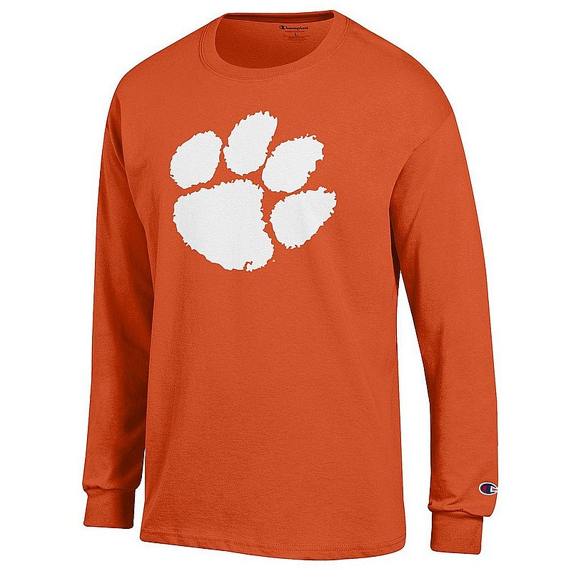 Clemson Tigers Long Sleeve Tshirt Icon Orange