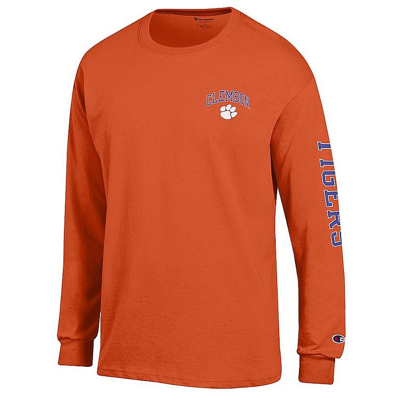 Clemson Tigers Long Sleeve TShirt Letterman Orange APC02984829/APC02974099