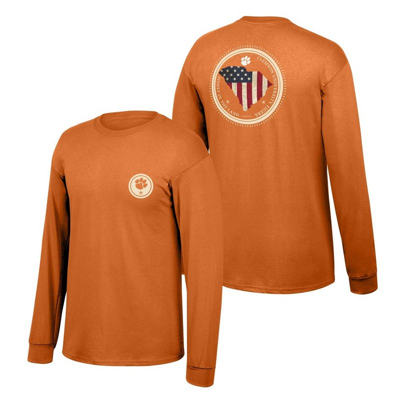 Clemson Tigers Long Sleeve Tshirt State Patriot CLEMStatePatriot