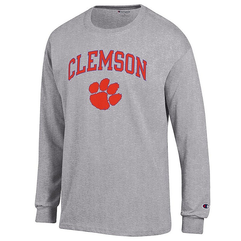 Clemson Tigers Long Sleeve TShirt Varsity Gray APC02960969