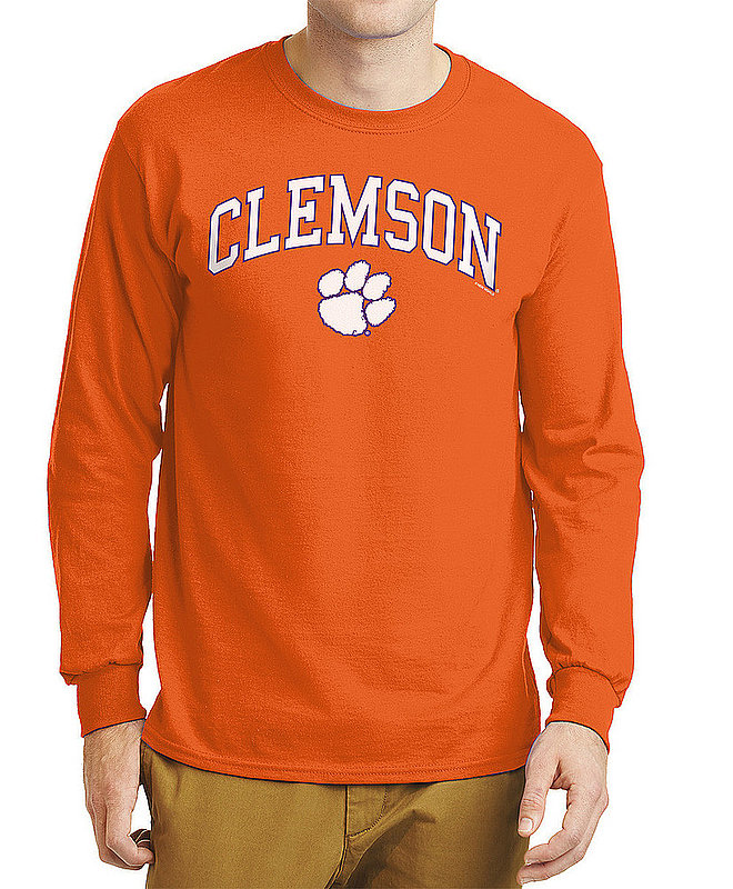 Clemson Tigers Long Sleeve TShirt Varsity Orange Arch Over APC02960969*