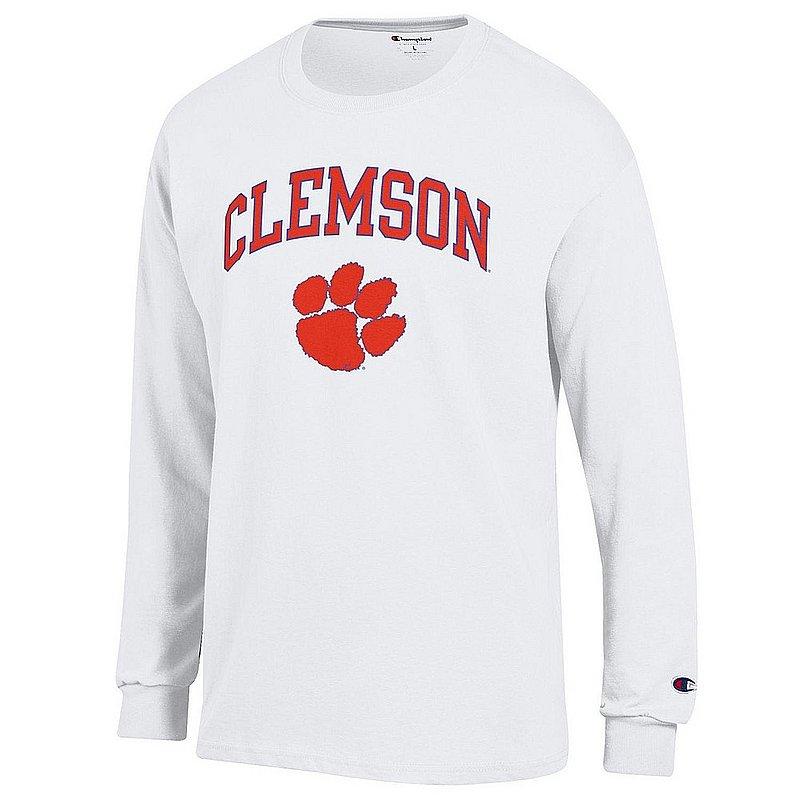 Clemson Tigers Long Sleeve TShirt Varsity White APC03006348