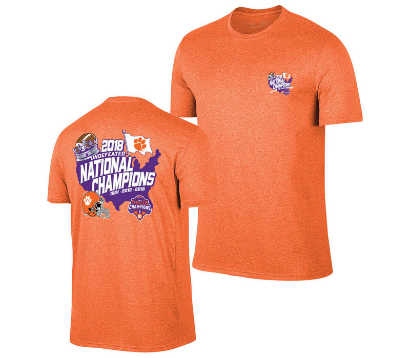 Clemson Tigers National Champs Tshirt 2018 - 2019 Country Orange VCL9274A