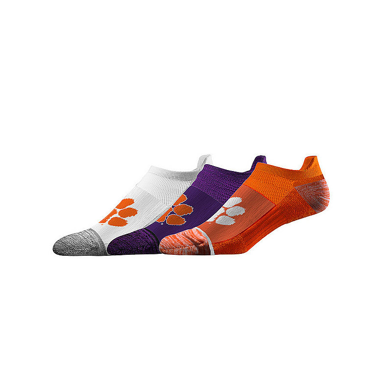 Clemson Tigers No Show Socks 3-Pack