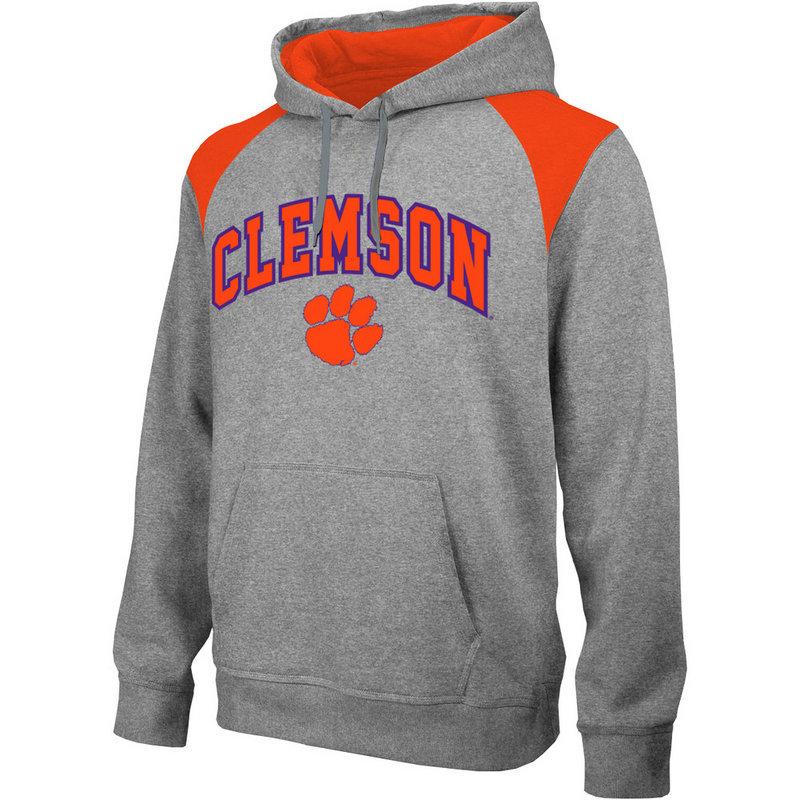 Clemson Tigers Performance Hooded Sweatshirt Captain Gray CLM4P692