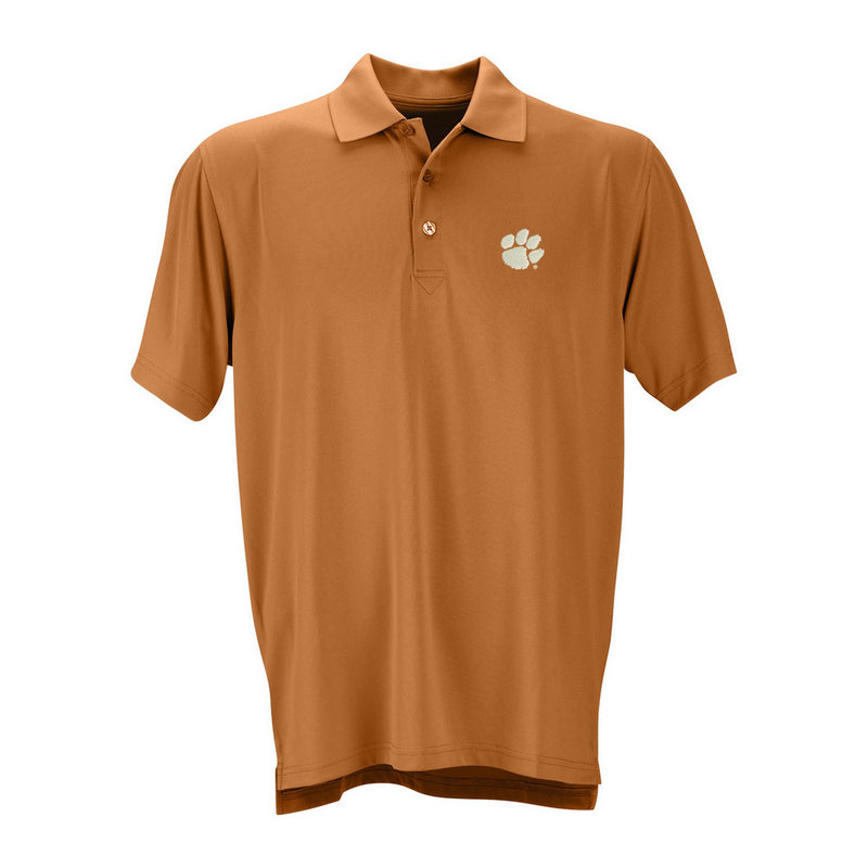 Clemson Tigers Performance Polo Orange E403000