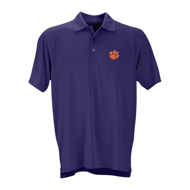Clemson Tigers Performance Polo Purple E403000