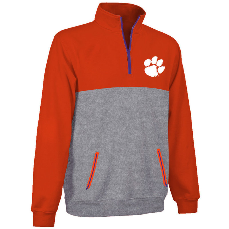 Clemson Tigers Performance Quarter Zip Captain Sweatshirt CLM9P777
