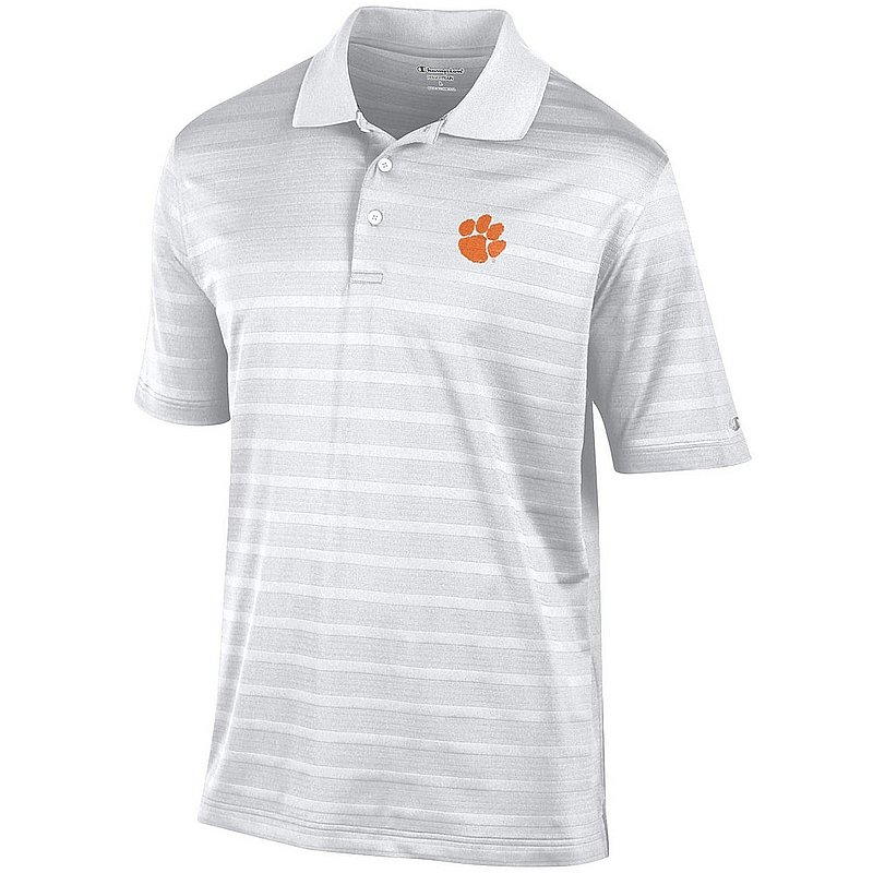 Clemson Tigers Polo Shirt White AEC03244688