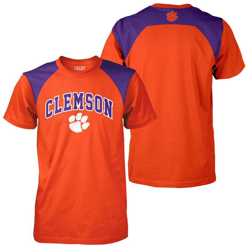 Clemson Tigers Poly TShirt Orange CLM1T692
