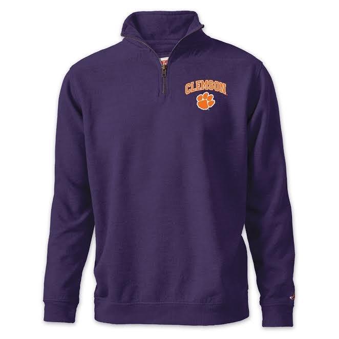 Clemson Tigers Quarter Zip Sweatshirt Purple R11-99527