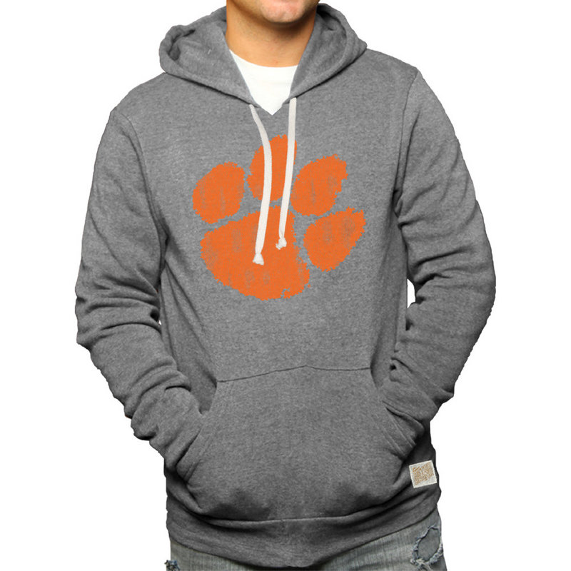 Clemson Tigers Retro Hooded Sweatshirt Gray CCLM071C