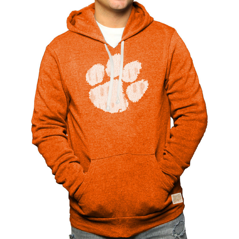 Clemson Tigers Retro Hooded Sweatshirt Orange CCLM071A_OGF