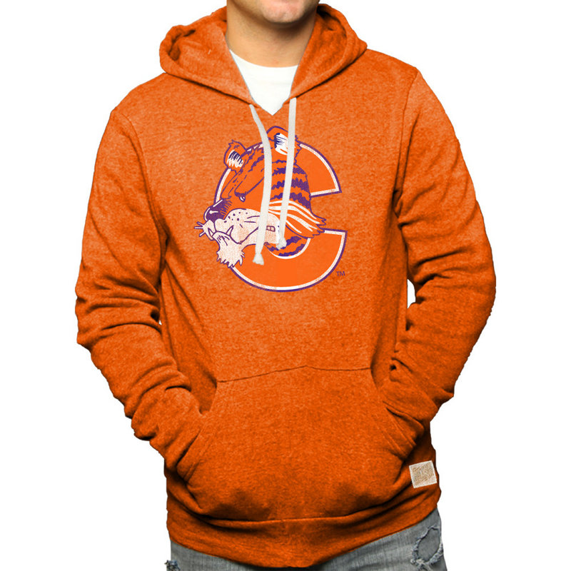 Clemson Tigers Retro Hooded Sweatshirt Orange RB6090