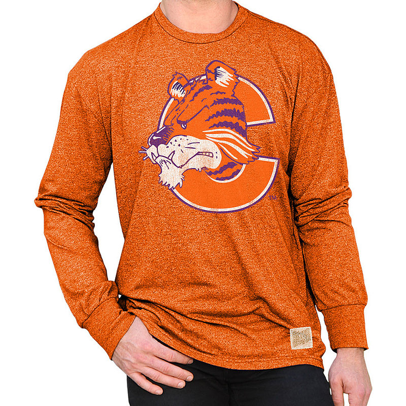 Clemson Tigers Retro Long Sleeve TShirt Orange RB424