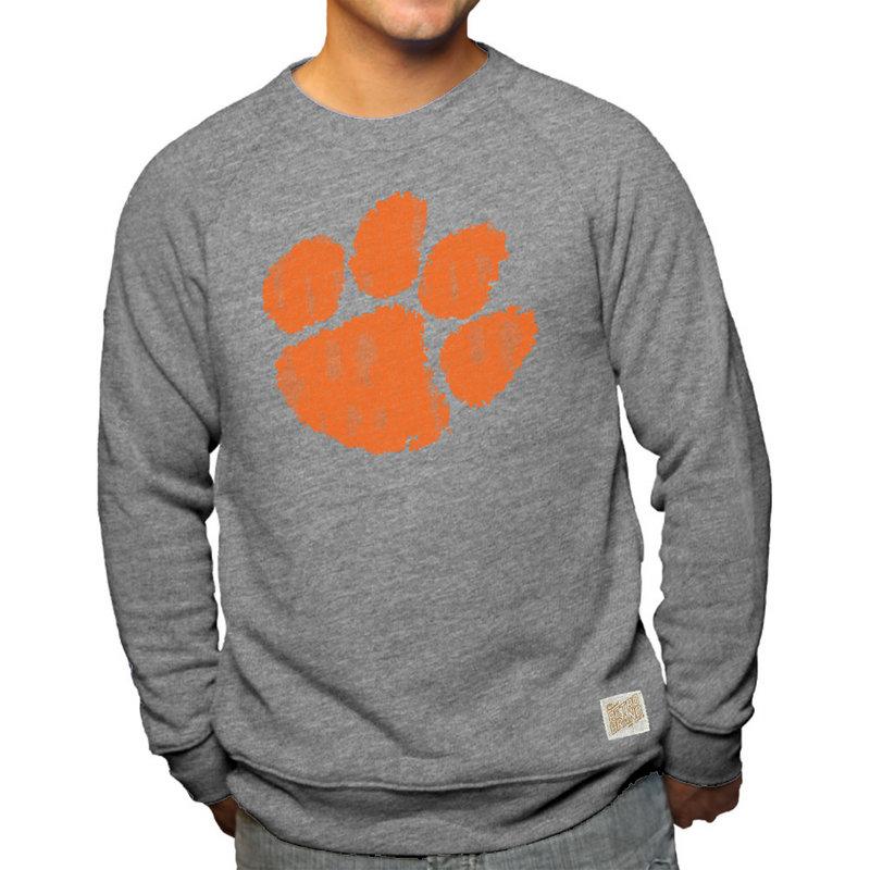 Clemson Tigers Retro TriBlend Crewneck Sweatshirt Gray CCLM071C