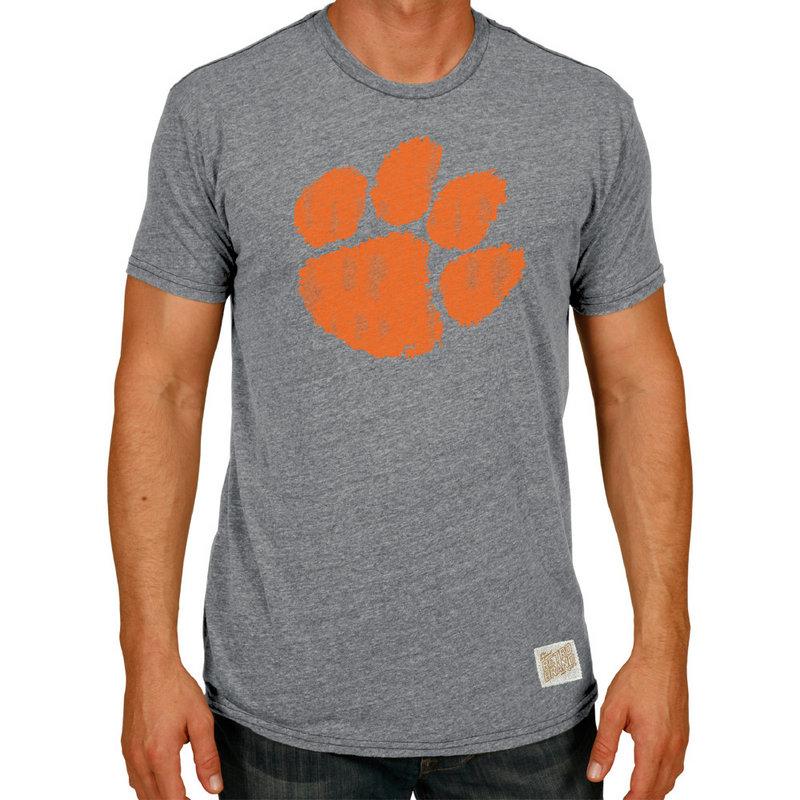 Clemson Tigers Retro TriBlend Tshirt Gray CCLM071C