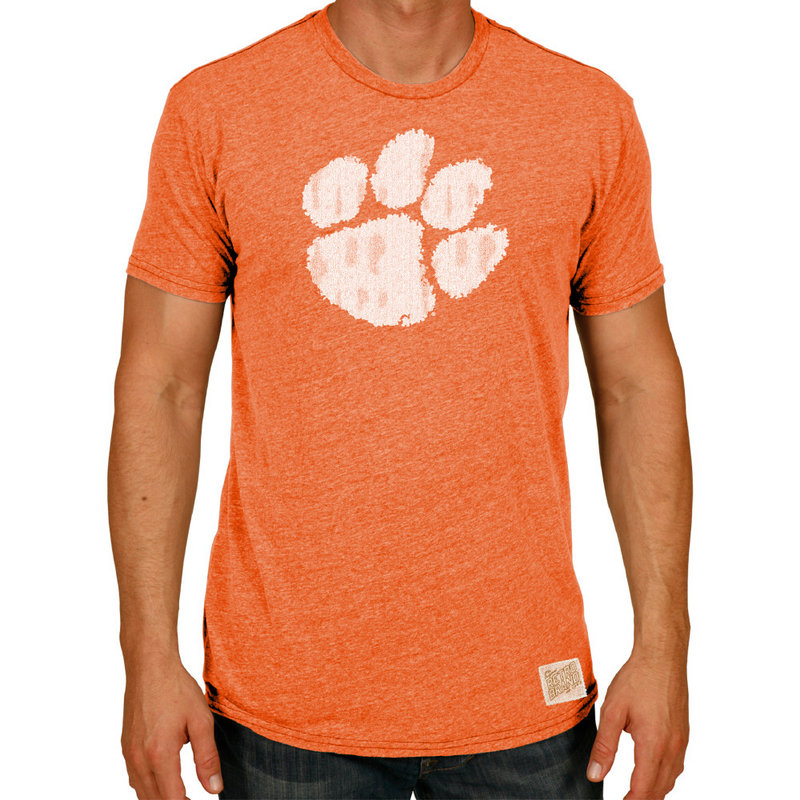 Clemson Tigers Retro TriBlend Tshirt Orange CCLM071A_SOR