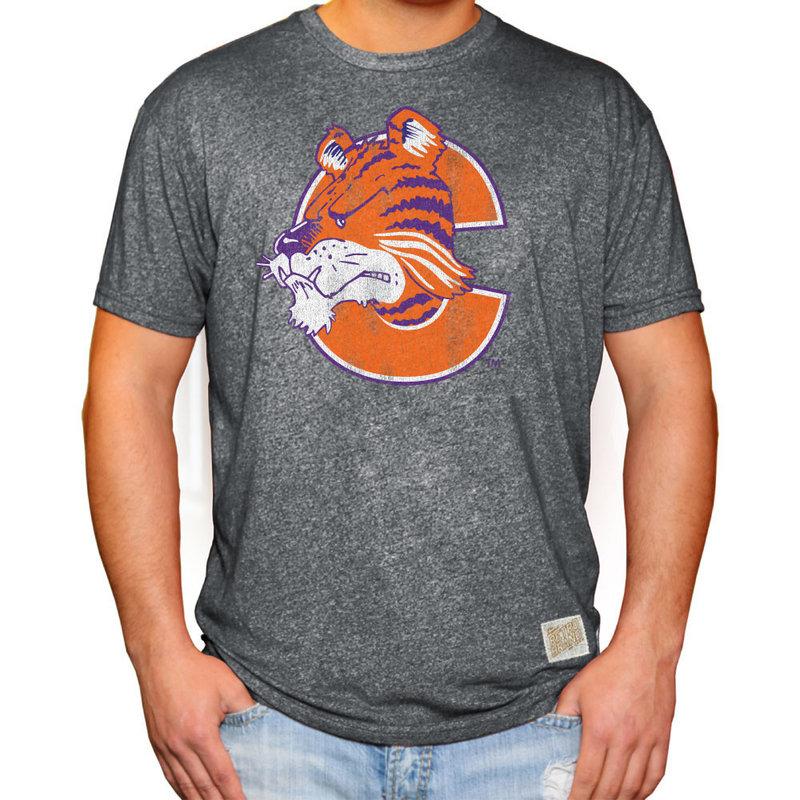 Clemson Tigers Retro Tshirt Charcoal CCLM016_MTCH