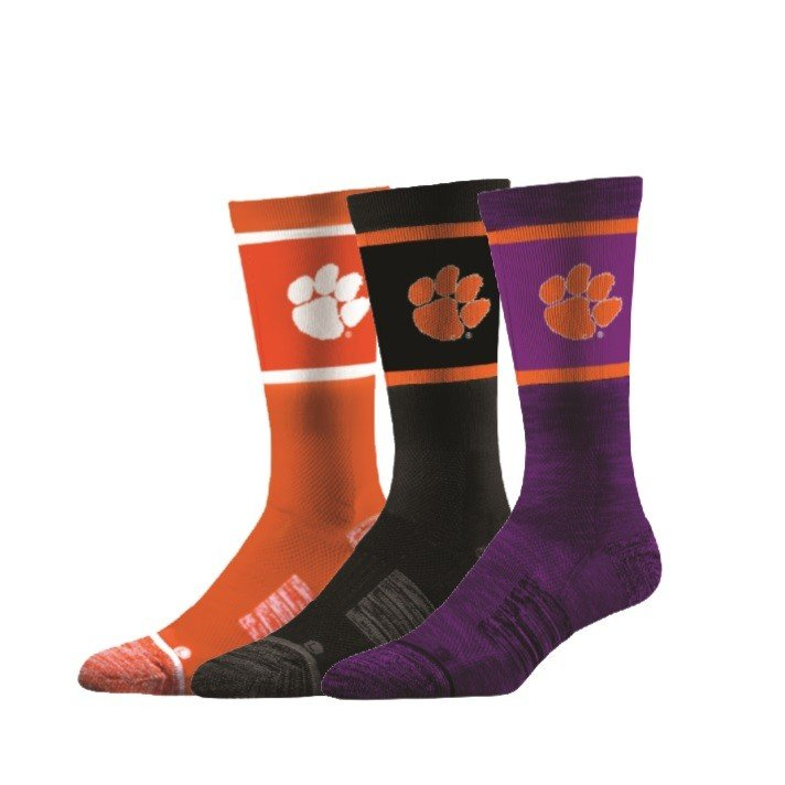 Clemson Tigers Socks 3-Pack
