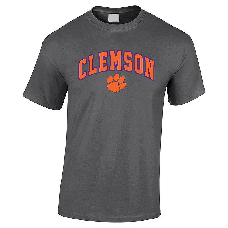 Clemson Tigers Tshirt Arch Over Plus Size Charcoal