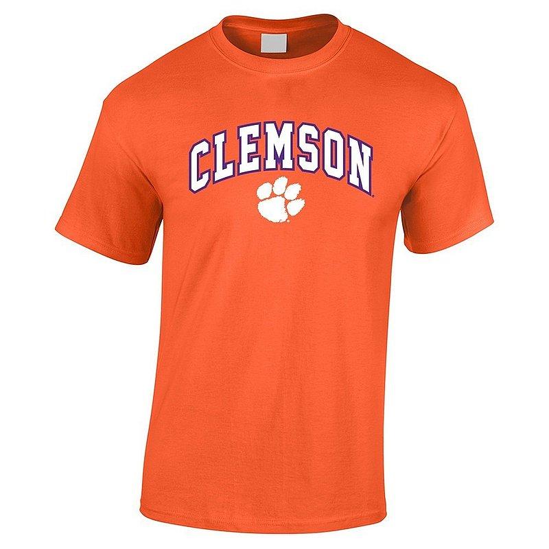 Clemson Tigers Tshirt Arch Over Plus Size Orange