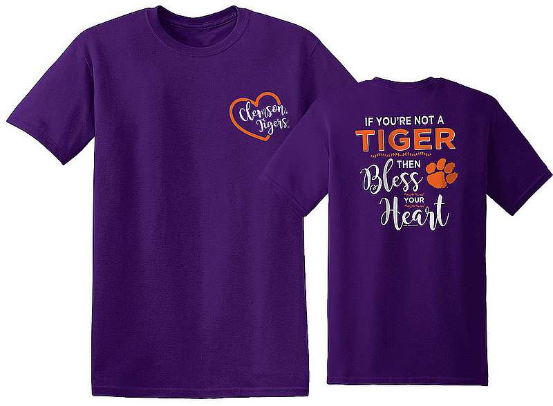 Clemson Tigers Tshirt Bless Your Heart CLEMBlessYourHeart(REV)OL