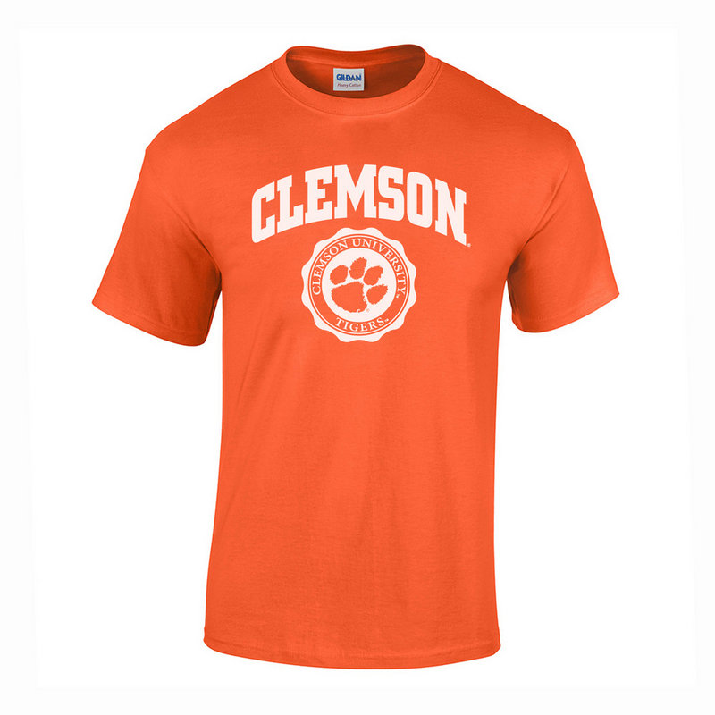 Clemson Tigers TShirt Seal Orange P0007479