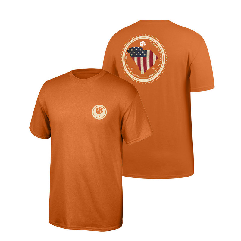 Clemson Tigers Tshirt State Patriot CLEMStatePatriot