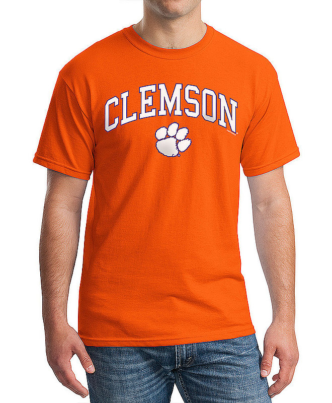 Clemson Tigers TShirt Varsity Orange Arch Over APC02960969*