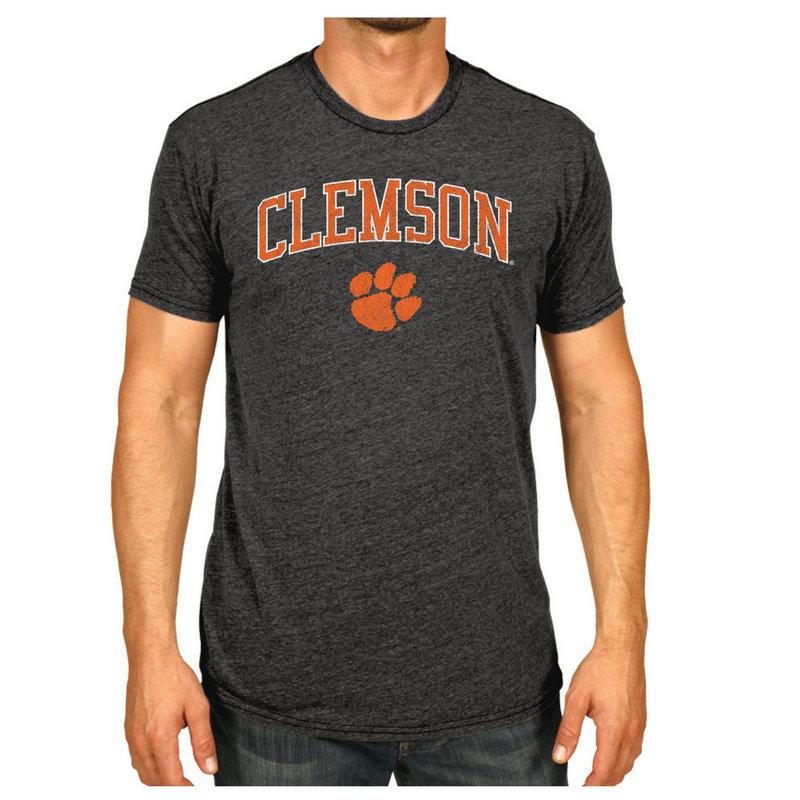 Clemson Tigers Vintage Tshirt Charcoal Victory CLMV1412B_TV7051M_HBK