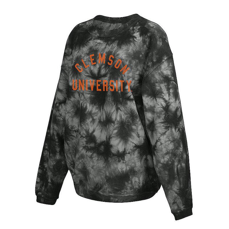 Clemson Tigers Women's Tie-Dye Corded Crewneck Sweatshirt 443-49-CL521