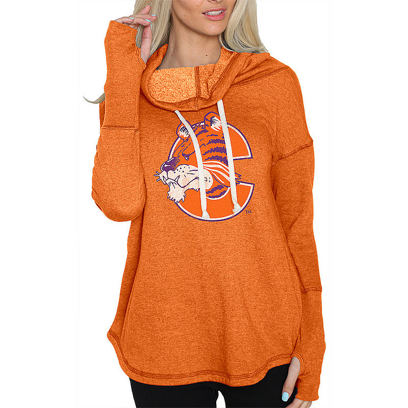 Clemson Tigers Womens Funnel Neck Sweatshirt CCLM016A_RB1920M_ORF