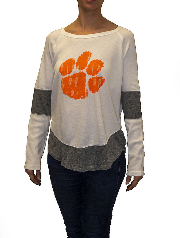 Clemson Tigers Womens Thermal Long Sleeve Shirt CCLM071U_RB1906M_STG