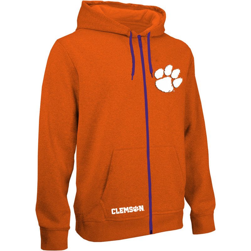 Clemson Tigers Zip Up Hooded Sweatshirt Captain Orange CLM29704