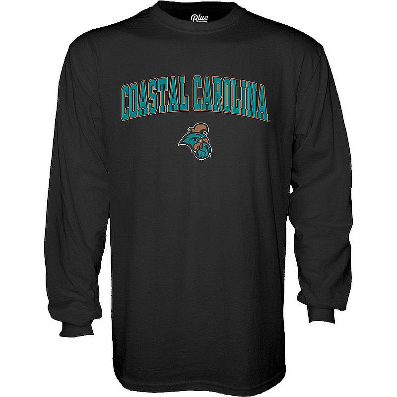 Coastal Carolina Chanticleers Long Sleeve TShirt Varsity Black Arch Over 00000000BC9CG