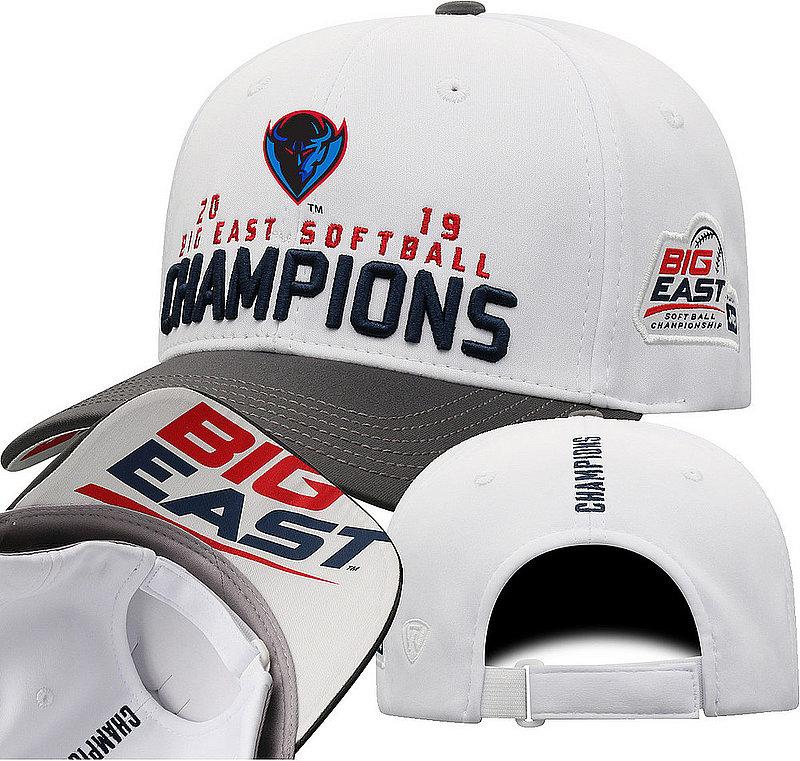 DePaul Blue Demons Big East Softball Champs Hat 2019 Locker Room BGEW-SFBLC-19C-BA