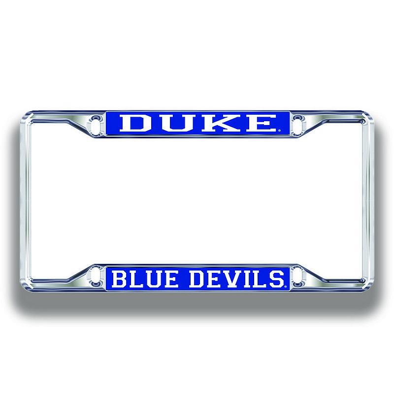Duke Blue Devils License Plate Frame Silver 15124