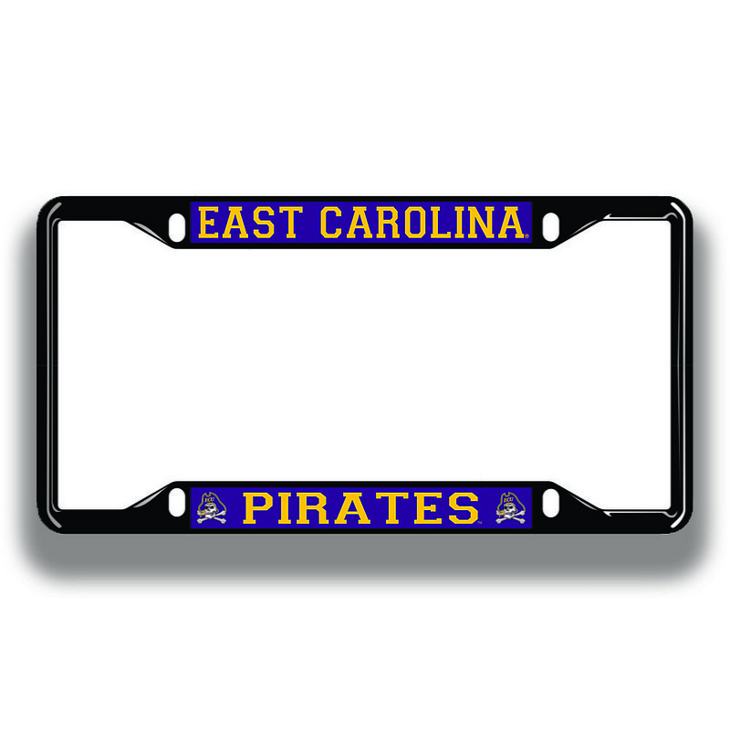 East Carolina Pirates License Plate Frame Black 16229