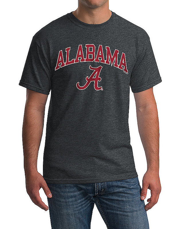 Elite Fan Shop Alabama Crimson Tide TShirt Varsity Charcoal APC02971688 (Elite Fan Shop)