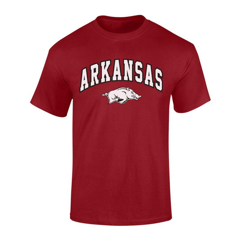 Elite Fan Shop Arkansas Razorbacks TShirt Arch Cardinal P0006424 / ARK CHSC3135